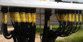 Kabelmanagement am Wechselrichter